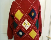 Vintage Payne Steward Golf Sweater Mens size S