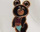 Vintage Mishka the Bear Pin