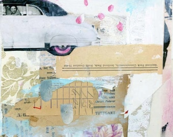 Original Collage, Paper Collage, Mixed Media Art by Angela Petsis