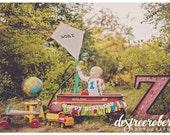 Carnival or Very Hungry Caterpillar Birthday Banner - Rainbow Birthday - Photoshoot Prop - Garland First Birthday Party Decor