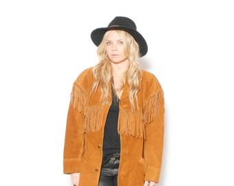 Vintage Minnetonka Suede Fringed Jacket