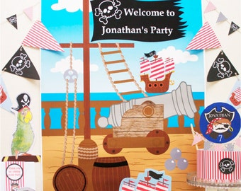 Pirate Party Backdrop