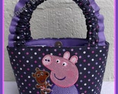 Tiny Tots Polka Dot Bag with Peppa Pig Embroidery Design