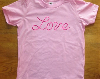 Heart Kids Tshirt - Valentines Day Kids Shirt - Love - Girls / Boys T Shirt Short Sleeved Childrens Tee - Sizes 2T, 4T, 6, 8, 10, 12