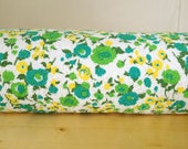 Reserved for Carliss - 8 Yards of Vintage Floral Terrycloth Fabric
