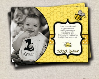 Bumble Bee Thank You Card | Bumble Bee Birthday Party Printables