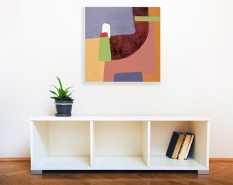 Geometric painting, minimalist painting, oil painting, abstract landscape, modern landscape, painting on canvas, wall art, contemporary