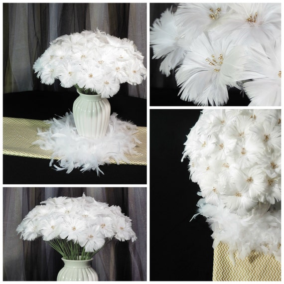 Freesia Feather Flowers Wedding Flowers Home Decor Alternative