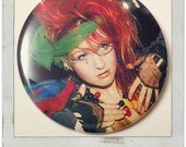 "Cyndi Lauper - Large 2.25"" Pin Back Button OR Pocket Mirror"