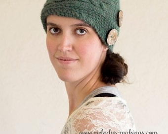 Cadence Cabled Cloche Knitting Pattern - Sizes Toddler, Child, and Adult Included - Instant Digital Download