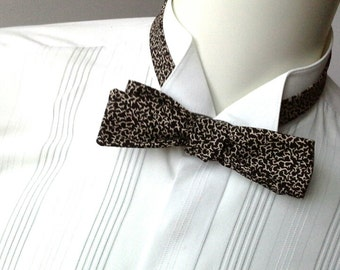 Bowtie, skinny style, black and white self tie bow tie, freestyle for men - mans bow tie ships worldwide from Bagzetoile
