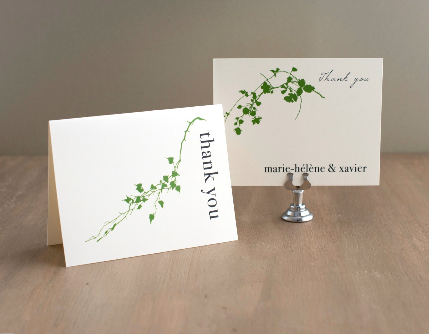 Green Branch Wedding Thank You Cards Bridal Shower Thank You