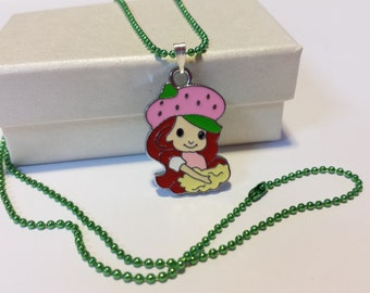 Sale! sweet strawberry girl Necklace