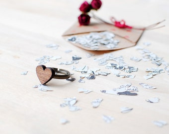 Wooden Heart Ring | Fully Adjustable | Nickel Free