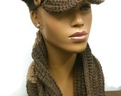PATTERN ONLY Crochet Show Stopping Brimmed Beanie/Newsboy Hat