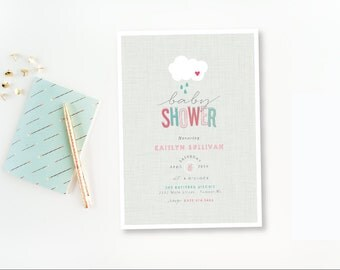 Showers Baby Shower Invitation - PRINTABLE DIGITAL Boy or Girl  - Printable Party Collection by Itsy Belle