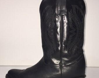 crotch high cowboy boots 37 shaft high by