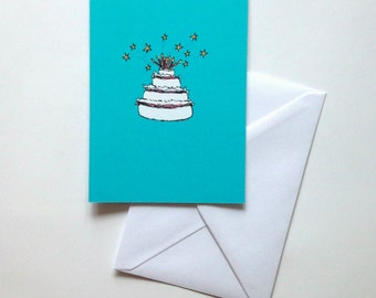 Cake birthday card greeting card