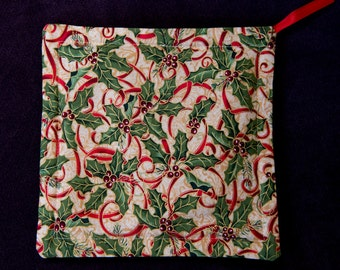 Hot Pad Cinnamon Clove Scented Fabric in 2 Holiday Patterns