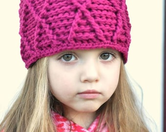 Crochet Pattern for Reversible Harlequin Beanie Hat - 6 sizes, baby to large adult - Welcome to sell finished items