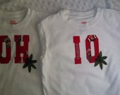 Ohio State OHIO T shirt Set for twins or siblings