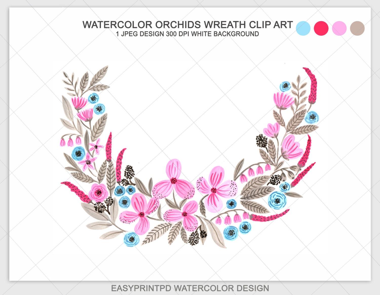 Orchid Clip Art Monogram
