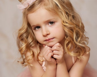 Princess gold lace crown|| Tallulah ||Ballerina tutu crowns|| pixie ballerina tutu vintage gold lace crown|| photo prop PRINCESS (all ages)