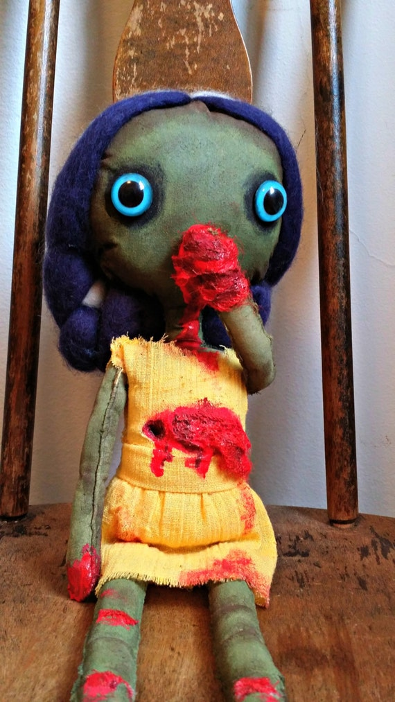 Zombie Doll Pin up Zombie - Art Doll