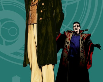 "Doctor Who - Paul McGann & the Master - 17 x 11"" Digital Print"
