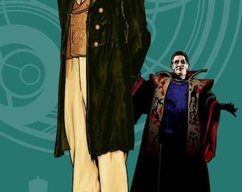 "Doctor Who - Paul McGann & the Master - 17 x 11"" Digital Print"
