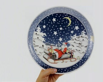 Vintage Villeroy & Bosch Christmas Plate Platter Made in Western Germany