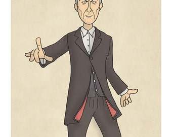 Doctor Who - Peter Capaldi - The Twelfth Doctor -  Illustration Print