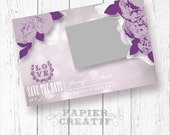 Save The Date Printable Announcement | *Lavendar Rose* Customizable with Your Photo and Wedding Colors