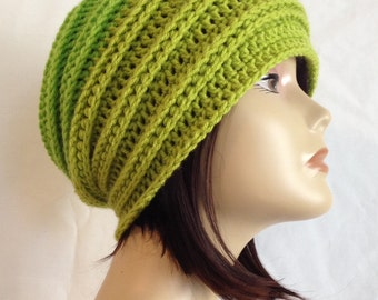 Crochet Hat Pattern,Crochet Pattern,PDF Digital download,double ribbed slouch,slouchy,beanie,hat,cap,Fit's Teens and adults,pattern only