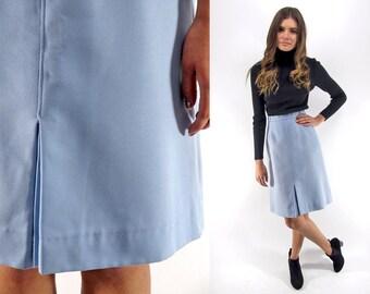 Vintage 70s A-Line Skirt, High-Waist Skirt, Mod Skirt, 70s Boho Skirt Δ size: sm