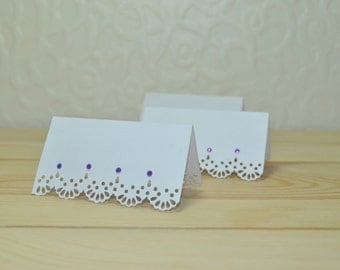 Lace Laser Cut Wedding Place Cards - Pack of 25
