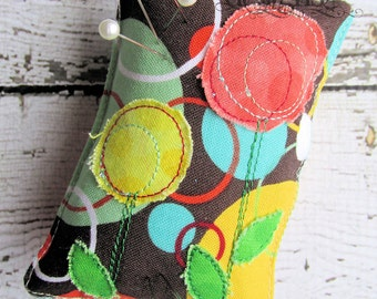 Retro Shabby Flower Pin Cushion