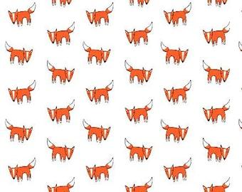 Fitted Crib Sheet Orange Fox- Orange Crib Sheet- Fox Crib Sheet- Fox Baby Bedding- Woodland Crib Sheet- Crib Bedding- Organic Crib Sheet