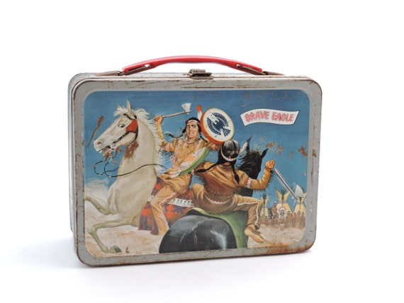 Vintage 1950's Brave Eagle Metal Lunchbox