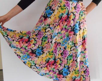 90s floral print midi/maxi skirt,30% OFF