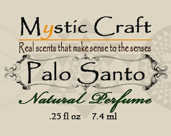 Palo Santo Natural Perfume Oil Blend In Miron Violettglas Bottle With Glass Roller Ball 1/4 oz, 7.4ml