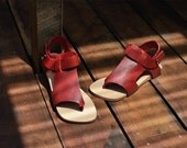 Sandal Red Leather