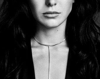 silver or gold-fill lariat necklace   F E M M E collection from Haley Lebeuf