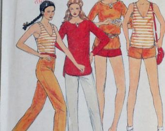 Uncut Vintage 1970s John Kloss Tank Top Tunic & Shorts Pattern Bust 34 Butterick 6538