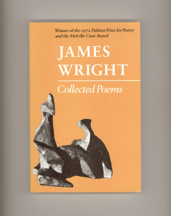 Poetry Book Cover Name : James wright collected poems vintage poetry book