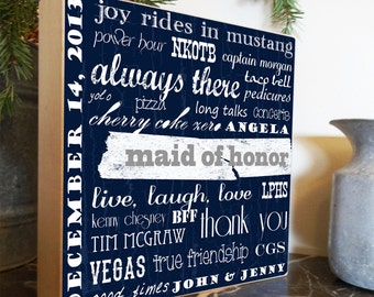 Maid of Honor Gift, Bridesmaid Gift, Rehearsal Gifts, Rehersal Dinner Gifts, Bridal Party Gifts, Groomsmen Gifts, Wedding Sign, Wedding Gift