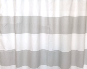 SALE! Ready to Ship! French Grey Thick Stripes Curtains. Cabana Stripe Curtains. Window Drapes.  Colorblock.