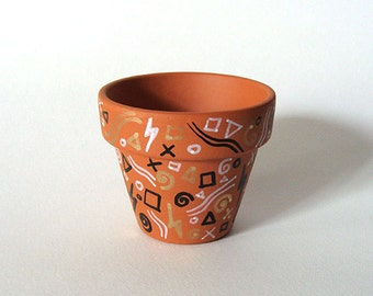 Hand Drawn Abstract Shapes Plant Pot