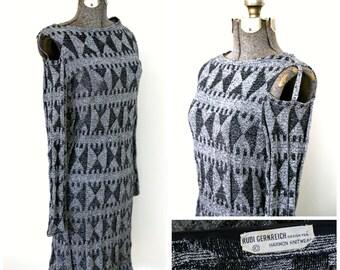 1960s Rudi Gernreich Knit Lurex Dress