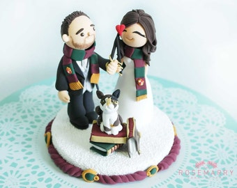 Custom Cake Topper- Harry Potter & Hermione